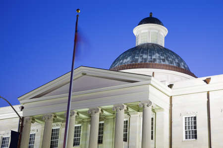 jackson: Old State Capitol of Mississippi in Jackson. Stock Photo