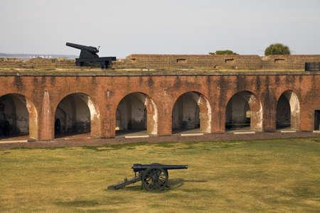 tybee island: Cannons in Fort Pulaski, Georgia