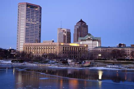 Evening in Columbus, Ohio, USA.