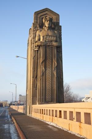 Historic bridge between Cleveland and Ohio City