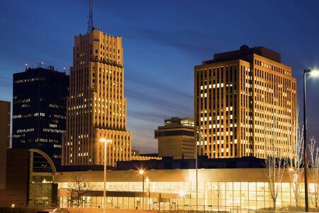 Skyline of Akron, Ohio, USA Stock Photo