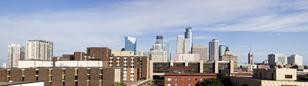 Panorama of  Minneapolis, Minnesota seen morning time photo