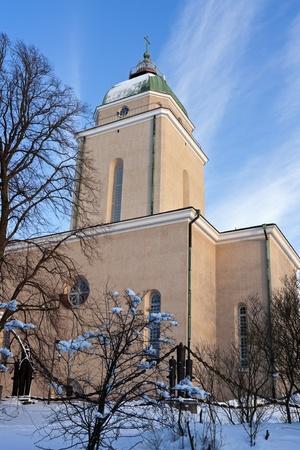 Suomenlinna Church - Helsinki, Finland. Reklamní fotografie - 9388480