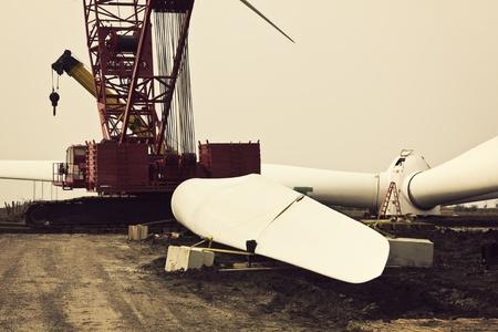 wind farm: Parque e�lico - construcci�n en curso