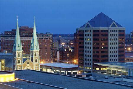 Night in Indianapolis, Indiana, USA. photo