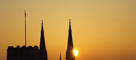 St Marys Catholic Church in Indianapolis at sunrise photo