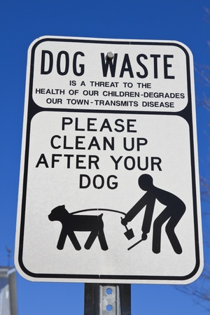 Clean up after your dog in the park Stock Photo - 9388269