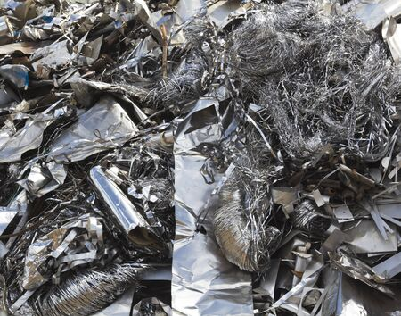 Aluminium waste in the scrapyard photo