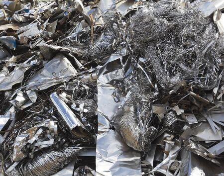 Aluminium waste in the scrapyard Stock Photo - 9388481