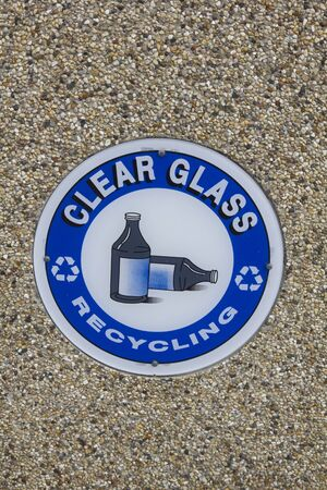 Glass Recycling - sign on the wall Stock Photo - 9388521