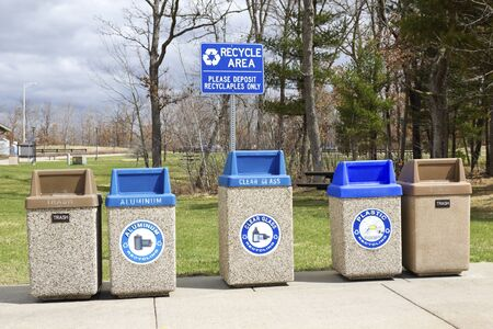 recycle area: Recycle area in the park Stock Photo