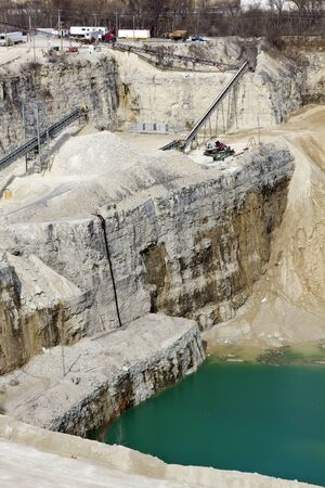 Limestone Quarry - view from the top of the wall photo