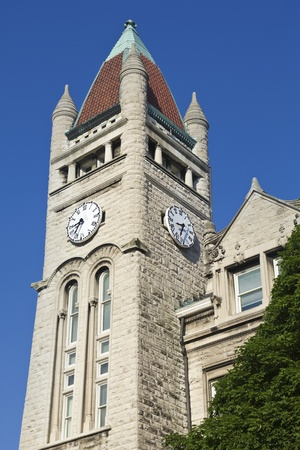 Clock Tower in the center of Louisville, Kentucky, USA Stock Photo