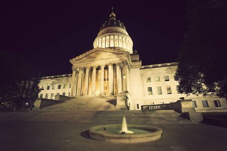Black night by State Capitol of West Virginia in Charleston. photo