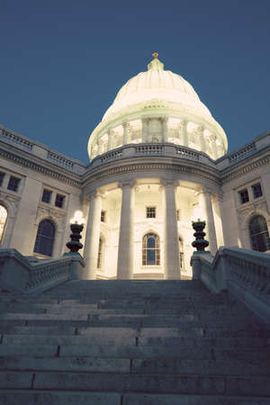 state of wisconsin: State Capitol Building in Madison, Wisconsin, USA Stock Photo
