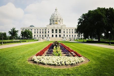 State Capitol of Minnesota in St. Paul. Summer time.