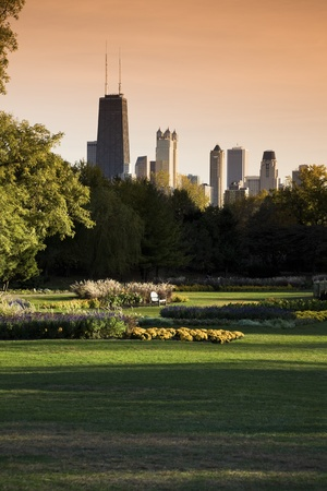 Lincoln Park in Chicago. Taken with tobacco filter photo