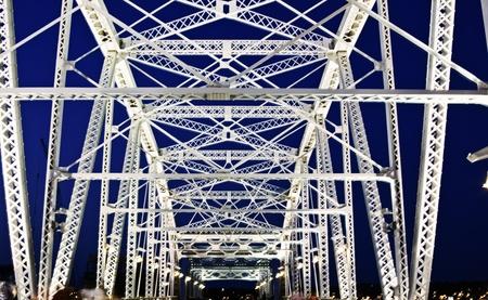 Pedestrian bridge in downtown of Nashville, Tennessee Stock Photo