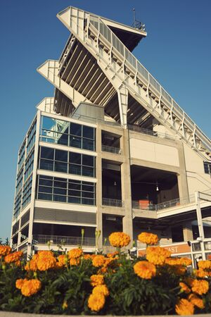 browns: Cleveland Browns stadium with the flowers in the foreground Editorial