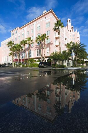 St. Pete Beach, Florida - December 26, 2008: Don Cesar Hotel in St. Pete Beach reflected in the water. Taken winter morning.