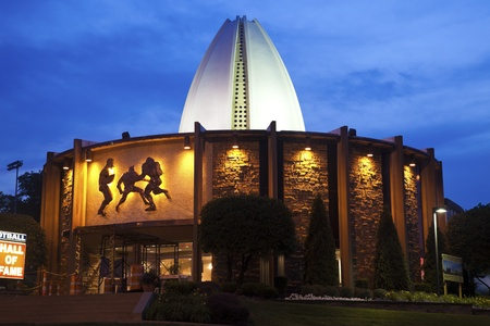 Canton, Ohio, Verenigde Staten - 18 juli 2011: Pro Football Hall of Fame in Canton, Ohio. Gebouwd in 1963. Stockfoto - 10484322