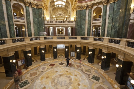 Interior of State Capitol Building in Madison, Wisconsin, USA