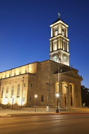 immaculate: Catedral de la Inmaculada Concepci�n en Springfield, Illinois. Foto de archivo