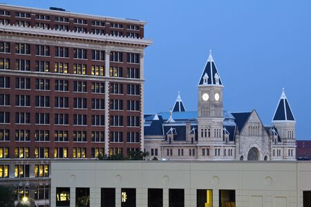 denver skyline at sunset: Union Station in downtown of Louisville, Kentucky