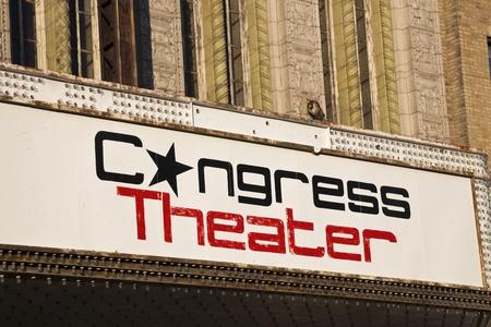 2135 N. ミルウォーキー アベニュー シカゴのコングレス劇場にあります。1926 年に建てられた、4500 人の能力を持っています。夕方を見た。2011 年 9 月