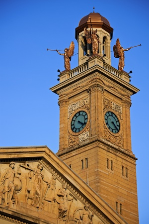 Clock Tower by Courthouse Building in Canton, Ohio