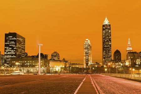 Cleveland, Ohio after sunset