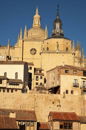 segovia: Architecture of Segovia, Spain, europe Editorial