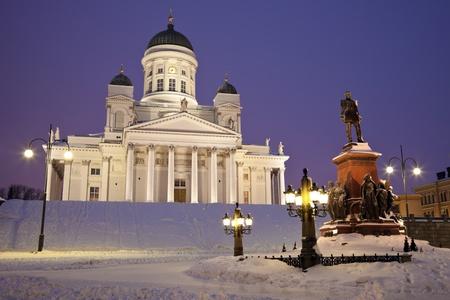 Helsingin tuomiokirkko (Suurkirkko) - the Lutheran Cathedral seen early in the morning. Editorial