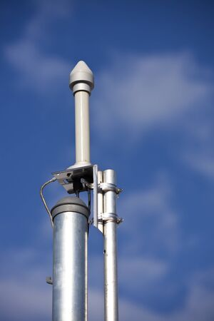 GPS antenna on the cellular site -  a part of the 911 emergency system. Stock Photo