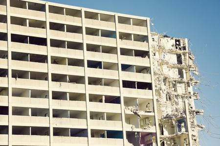 Demolition of Cabrini-Green building in Chicago
