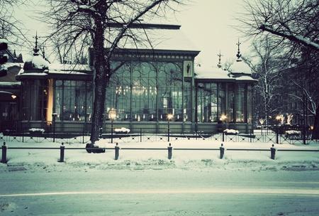 Famous historic Kappeli Restaurant in the center of Helsinki.