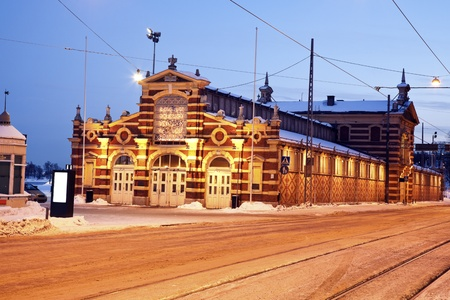 Vanha kauppahalli - Covered Market in the center of Helsinki. Built in 1889.
