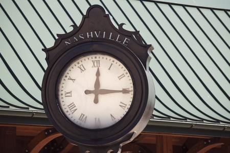 Old street clock in Nashville, Tennessee, USA Stock Photo