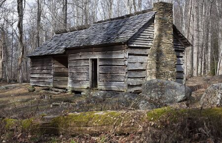great smoky national park: Historic house in Great Smoky Mountains National Park