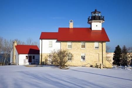 Port Washington Lighthouse, Wisconsin, USA.