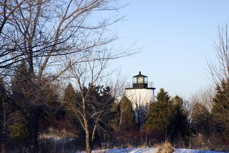 Kevich Lighthouse in Wisconsin, USA