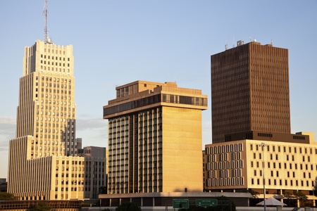Akron, Ohio - afternoon skyline of the city Stockfoto