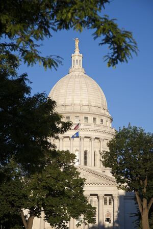 Madison, Wisconsin - summer by State Capitol Building  Stock Photo - 11810013