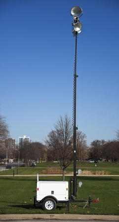 Portable lighting equipment - seen in the park