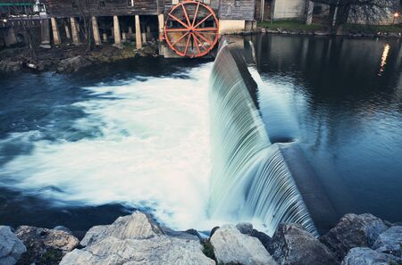 Old Mill in Pigeon Forge - Smoky Mountains area Banco de Imagens