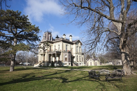 David Davis Historic Mansion in Blomington, Illinois Editorial