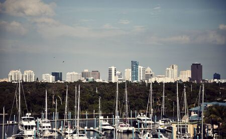 fort lauderdale: Fort Lauderdale, USA - panorama of downtown.