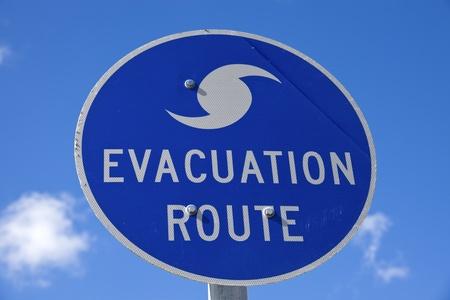 evacuacion: Evacuación signo Ruta