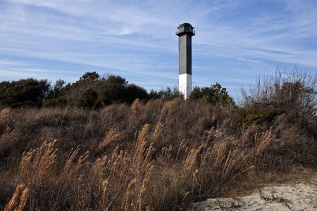 Charleston lighthouse located on Sullivans Island in South Carolina Reklamní fotografie