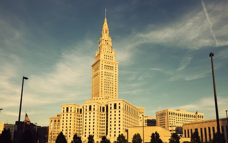 Terminal Tower in downtown of Cleveland, Ohio